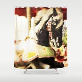 Carousel Horse Photo Shower Curtain