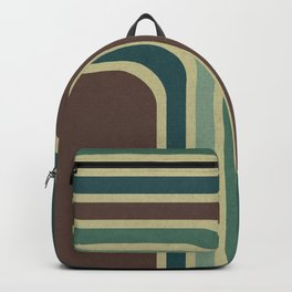 Retro Stripes Pattern Backpack