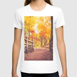 New York City Autumn in Central Park T-shirt