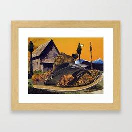 Bear's Sunset Framed Art Print
