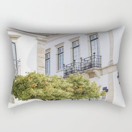 Orange tree in the streets of Portugal Rectangular Pillow