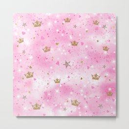 Pink Princess Metal Print