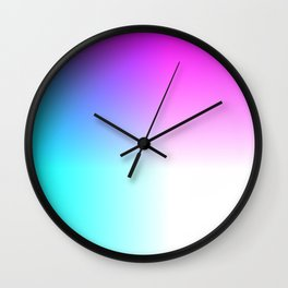 Blue Purple Pink and White Ombre Ocean Wall Clock