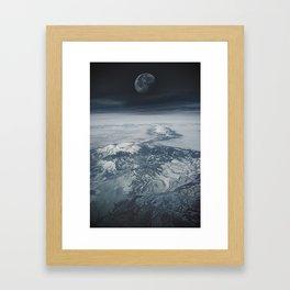 Moon Over Earth Framed Art Print