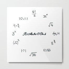 Maths O'Clock Metal Print