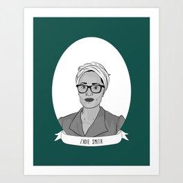 Zadie Smith Illustrated Portrait Art Print