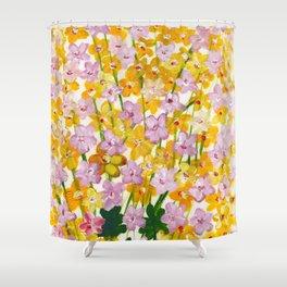 Yellow Flowers Bloom Shower Curtain