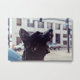 Bronze Fox - Sheridan, WY Metal Print