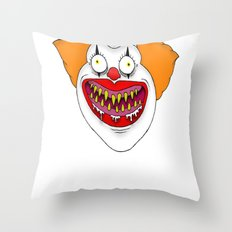 Cannibal Clown T-shirt Throw Pillow