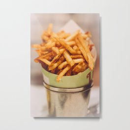 Fries in French Quarter, New Orleans Metal Print