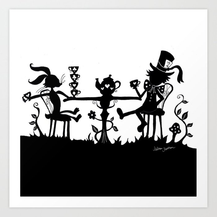 Mad Hatter S Tea Party Art Print By Melissamorrison Society6