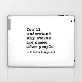 You'll understand why storms are named after people Laptop & iPad Skin