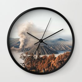 Volcano landscape Wall Clock