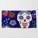 Sugar Skulls in Blue by roxygart