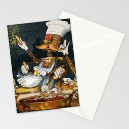 Robot Chef Stationery Cards