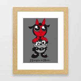 Krampus in Boots Framed Art Print