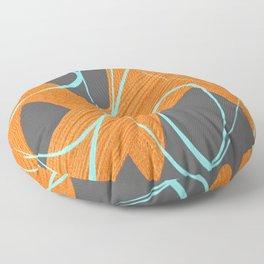 Grey orange and blue Floor Pillow