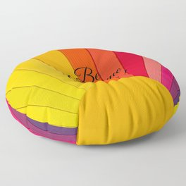 Be Awesome Today Rainbow Colored Sun Floor Pillow