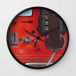 Hello World Public Phone Wall Clock