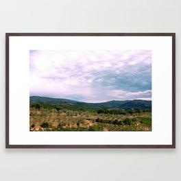 Landscape with wine Framed Art Print
