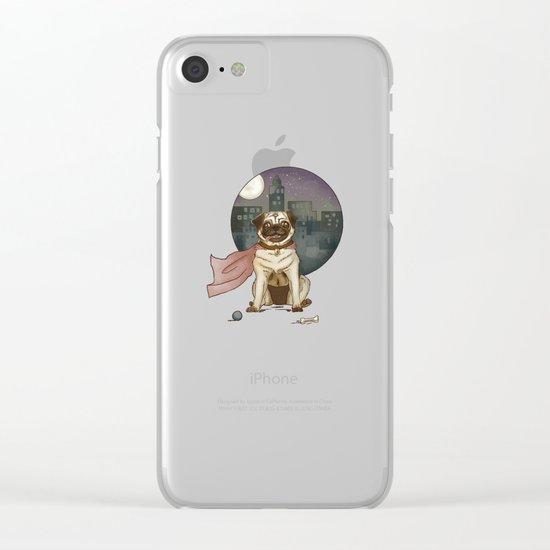 Super pug! Clear iPhone Case