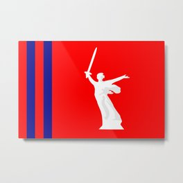 Flag of Volgograd Oblast  Metal Print