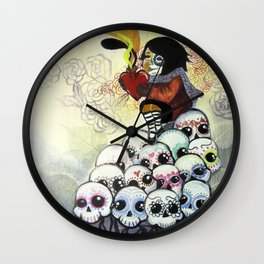 """""""Sugar Skull Song: You are Where You are Because of Them"""" 2011 Wall Clock"""