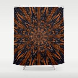 Energizing bronze mandala Shower Curtain