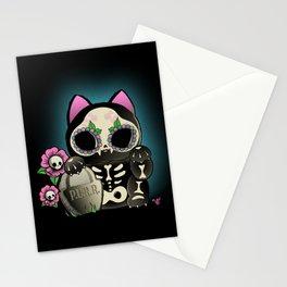 Lucky Cat De los Muertos Stationery Cards