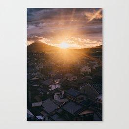 japanese landscape - sunset Canvas Print