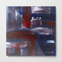 Abstract Acrylic Brush Strokes Metal Print