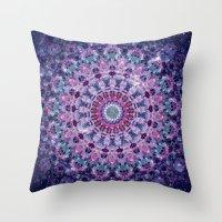 Throw Pillows featuring ARABESQUE UNIVERSE by Monika Strigel