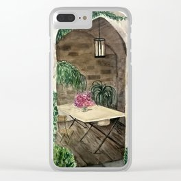 Giselle's Patio Clear iPhone Case