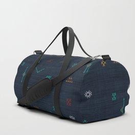 Cactus Silk Pattern in Navy Blue Duffle Bag
