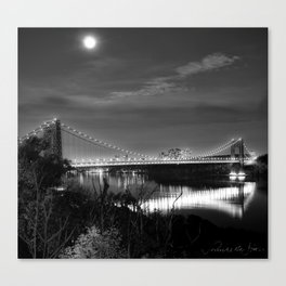 The George Washington Bridge at Night Canvas Print