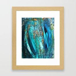 Doodle in blue Framed Art Print