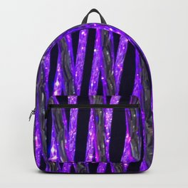 Neon Purple Glitz and Sparkle Glamour Pattern Backpack