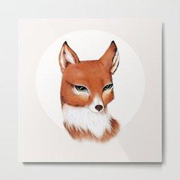 Moon Vixen in Orange Metal Print