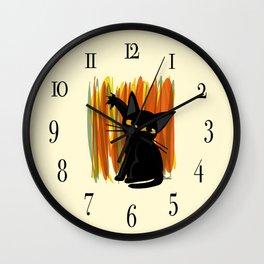 Cat artist Wall Clock