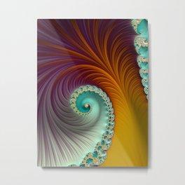Marmalade Swirl - Fractal Art  Metal Print