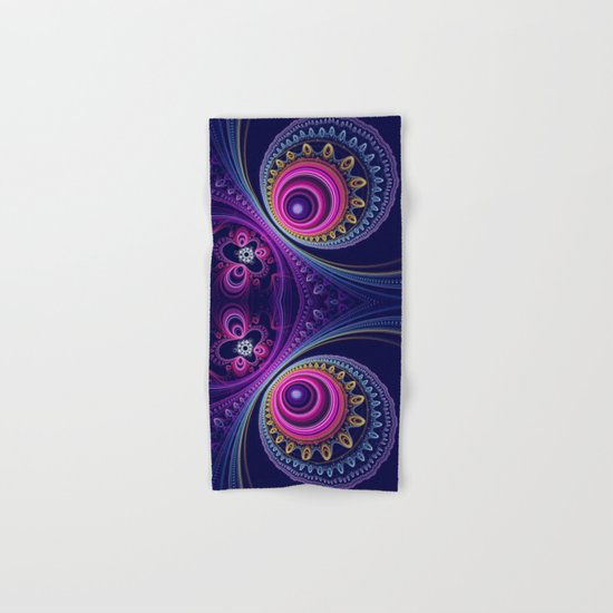 Colourful circles and patterns Hand & Bath Towel