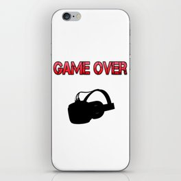 VR Game Over Red iPhone Skin