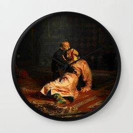 Vivid Retro - Ivan the Terrible and His Son Ivan Wall Clock