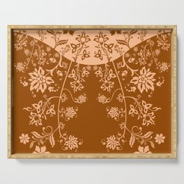 floral ornaments pattern cb Serving Tray