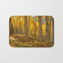 Autumn Aspen Forest in Aspen Colorado USA Bath Mat