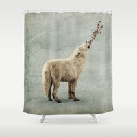 howl Shower Curtains featuring howl by Seamless