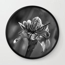 Tropical Flower Wall Clock
