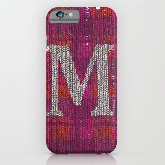 Winter clothes. Letter M. iPhone & iPod Case