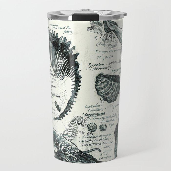 Sketchbook - Fossils Travel Mug