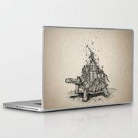 tortoise Laptop & iPad Skins featuring Tortoise Town by Brandon Dover (Braniel)